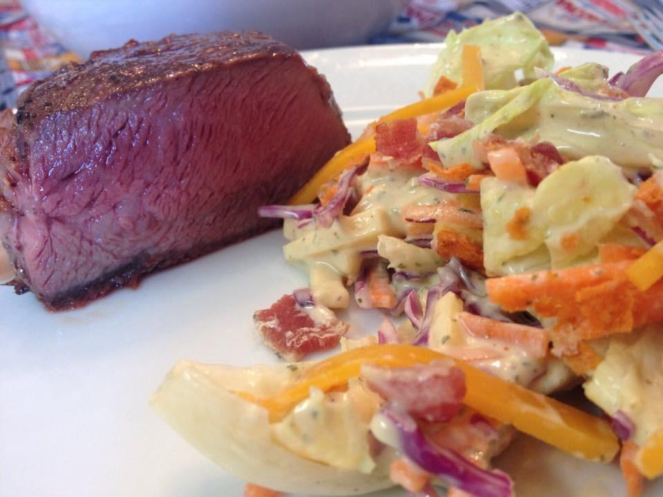 El Ranchito Salad e carne: um par perfeito!