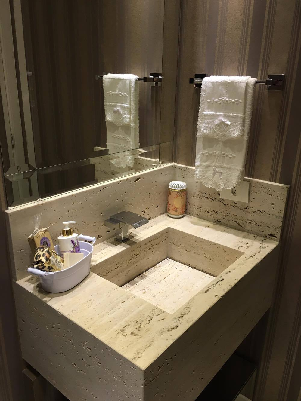 Banheiro Social com carinha de lavabo  Tour pelo ap -> Cuba Rasa Para Banheiro